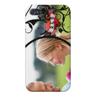 Your Photo Ever After Monogram Swirly iPhone Cover Cover For iPhone 4