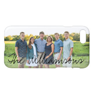 Your Photo Fun Modern Script Monogram or Name iPhone 7 Case