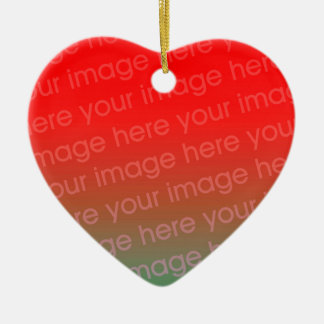 Your Photo Heart Shape Christmas Ornament Template