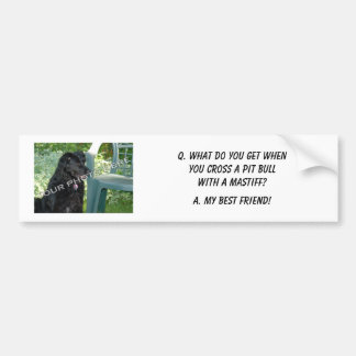 Your Photo Here! My Best Friend Pit Bull Mix Bumper Sticker