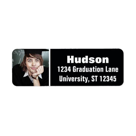 Your Photo Here Personalised Graduation Return Address Label