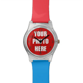 Your Photo Here Template Wrist Watch