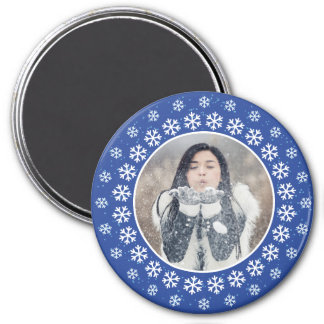 YOUR PHOTO in a Snowflake Frame magnet