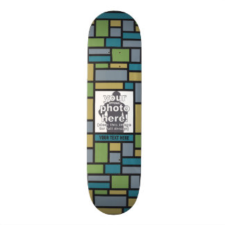 YOUR PHOTO in Geometric Pattern skateboards
