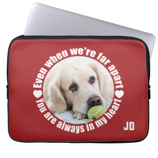 YOUR PHOTO & Monogram Far Apart laptop sleeves