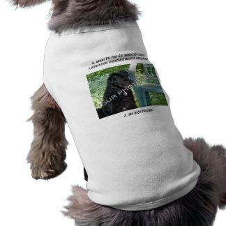 Your Photo! My Best Friend Miniature Pinscher Mix Sleeveless Dog Shirt