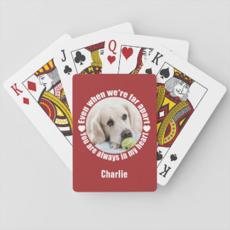 YOUR PHOTO & NAME Far Apart Love playing cards