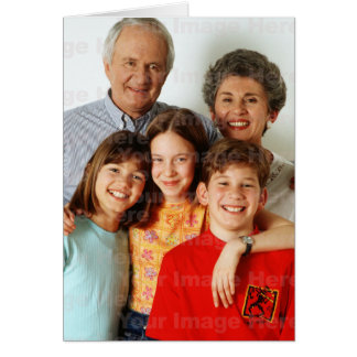 Your Photo on a Vertical Holiday Greeting Card