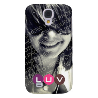 Your photo pink purple mod dots monogram letter samsung galaxy s4 cover