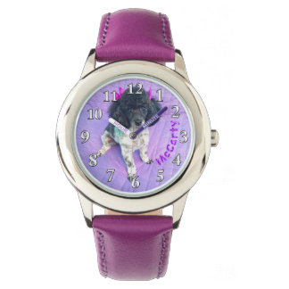 YOUR PHOTO Purple Watches for Girls
