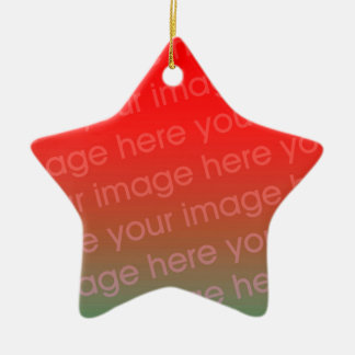 Your Photo Star Shape Christmas Ornament Template