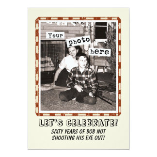 Your Photo Vintage Cowboy Party Invitation