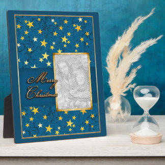 Your Photo with Christmas Stars Plaque