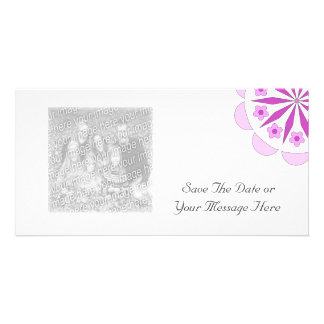 Your Photocard With A Simple Pattern Motif Personalized Photo Card