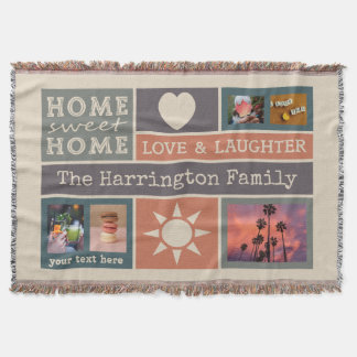 YOUR PHOTOS custom collage template throw blanket