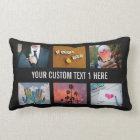 YOUR PHOTOS custom collage template throw pillow