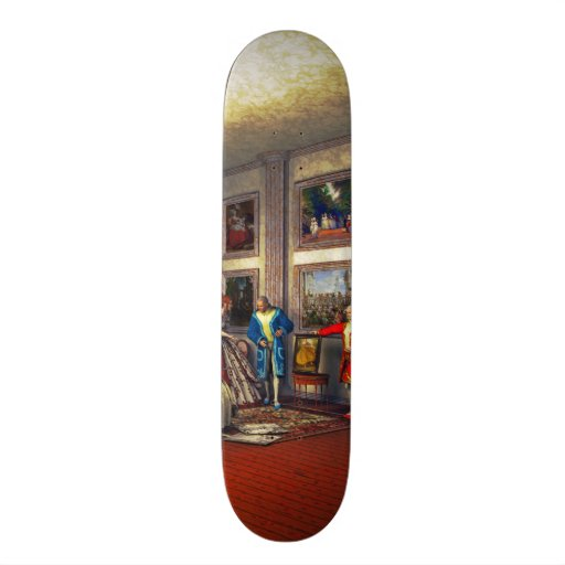 Your photos in a historical art gallery custom skate board