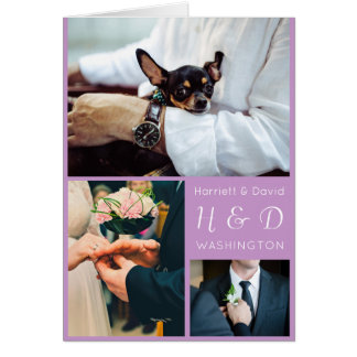 YOUR PHOTOS, Monogram & Text greeting card