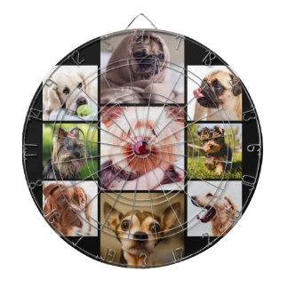 YOUR PHOTOS or cute dogs custom dart board