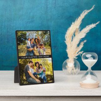YOUR PHOTOS & TEXT custom plaque