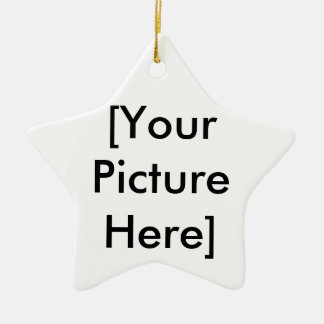 [Your Picture Here] Ceramic Star Decoration