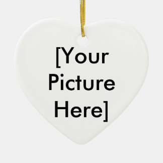 [Your Picture Here] Double-Sided Heart Ceramic Christmas Ornament