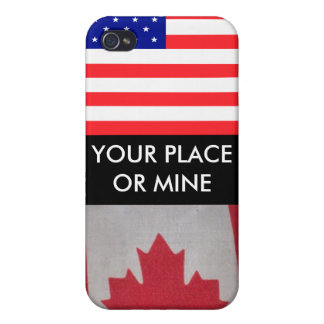 YOUR PLACE OR MINE USA/Canada i Case For iPhone 4