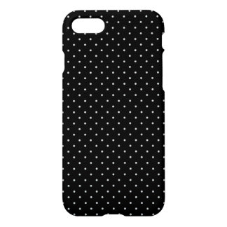 Your Polka Dots Color on Black Click iPhone 7 Case