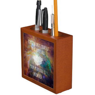 Your Potential is Unlimited Quote Galaxy Nebula Desk Organiser