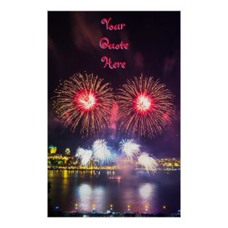 Your Quote Here   Quebec City Fireworks Poster