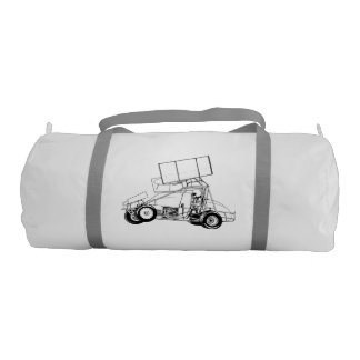 Your race teams sprint car gym duffel bag