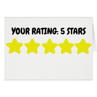 Your Rating: 5 Stars Card