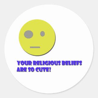 Your Religious Beliefs Round Sticker