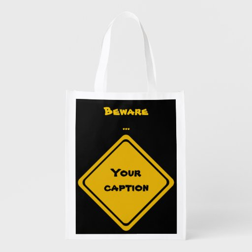 your road sign reusable grocery bags