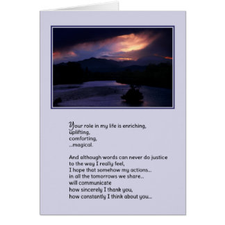 Your Role in My Life...Love Card