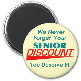 YOUR Senior Discount Magnet