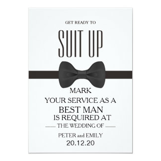 Your Service as a Best Man Card