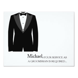 Your Service As A Groomsman Required Personalized Card