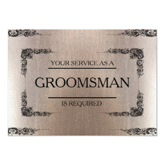 Your Service Is Requested as Groomsman Blur 13 Cm X 18 Cm Invitation Card