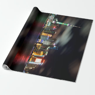 Your Shanghai Skyline by Night Wrapping Paper