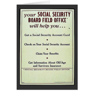 Your Social Security Board Field Office Card