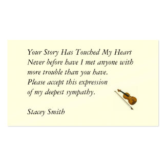 Your Story Has Touched My Heart... Business Cards