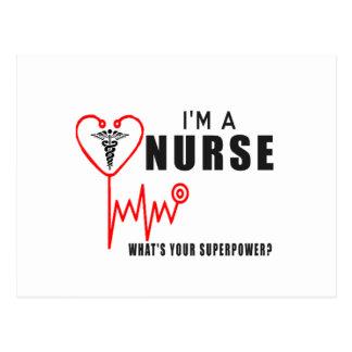 Your superpower nurse postcard