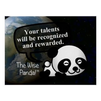 Your talent will be recognized and rewarded poster
