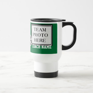 Your TEAM PHOTO, COLORS, TEXT Soccer Coach Mugs