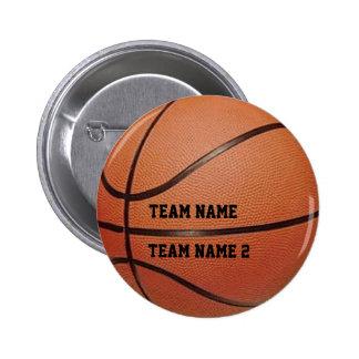 Your Team's Name Basketball Button