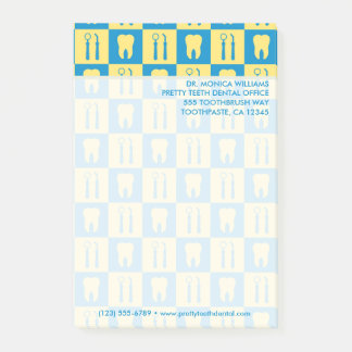 Your Text | Cute Teeth Dental Office Post-it Notes