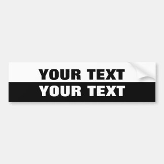 "Your Text ""Folio Extra Bold"" Black and White Bumper Sticker"