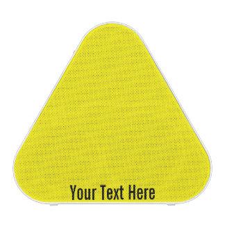 Your Text Here Yellow Pieladium Bluetooth Speaker