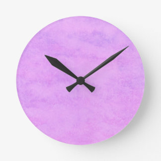 your text pink purple back ground round clock